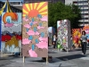 Two of the many boards we painted for the Witte de With festival in 2006.