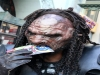 Predator eating LP flyer