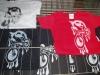 silcreenprinted t-shirts
