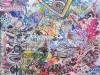 HAARP conspiracy, mixed media on canvas 40 x 50 cm.